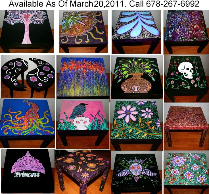 Funky Home Decor  Hand Painted Coffee Tables Nightstands  All One Of A Kind