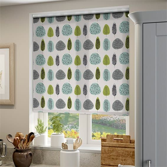 The Beauty Of Window Blinds Is That A Simple Colour Change Can Make A Whole  Lot Of Difference To The Feel And Mood, Take This Winter Leaf Gentle Blue  Roller ...