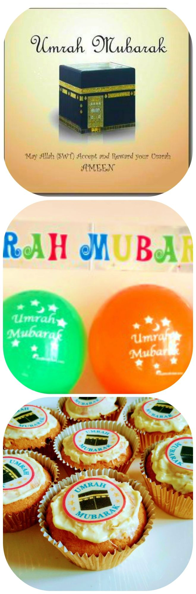 Say Umrah Mubarak with our umra  card £2.50 and cupcake toppers 15 for £2   Get an instant 20% discount when you join the VIP club  Here's the link http://eepurl.com/c95ur9