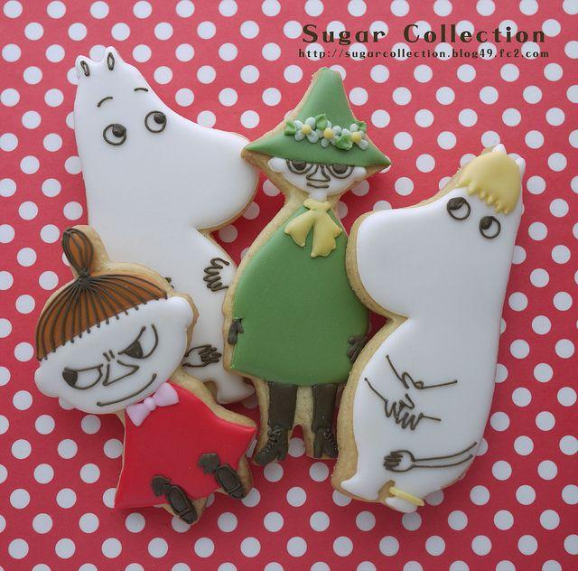 moomin cookies by JILL's Sugar Collection, via Flickr