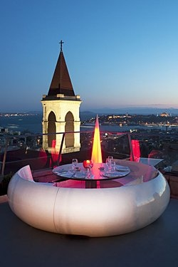 Our last dinner in Istanbul was here! Quite the view! It was called 360.