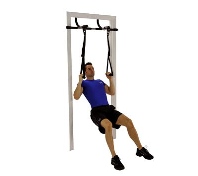 the ultimate body press pull up bar package comes with the adjustable width doorway pull bar and a set of push up rings