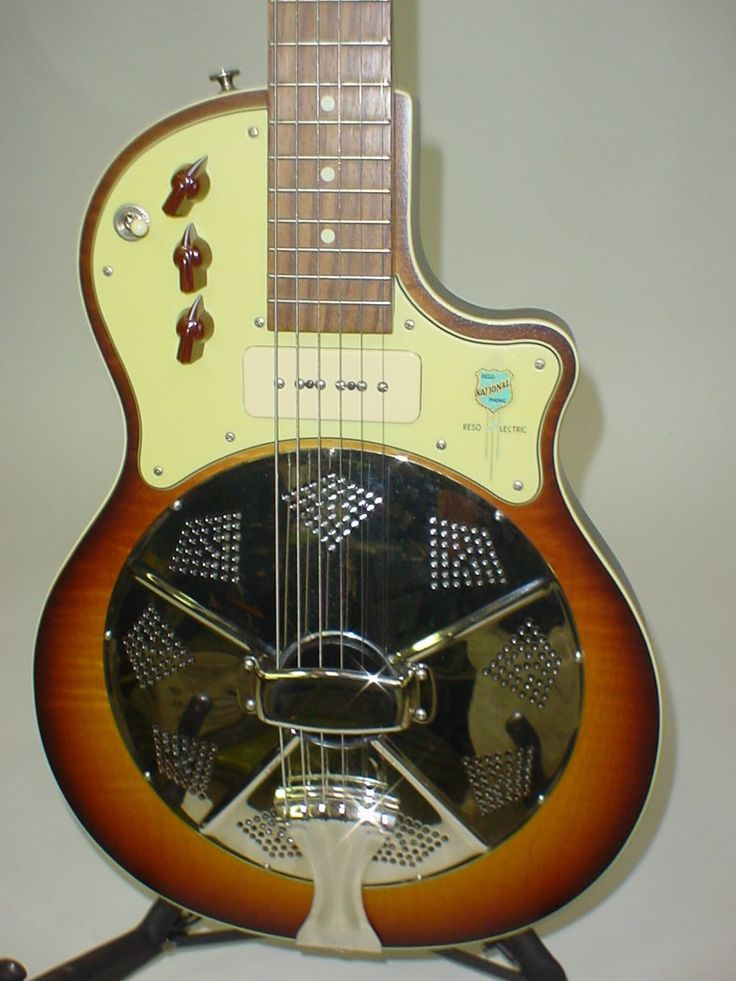 national resolectric electric resonator guitar with kent. Black Bedroom Furniture Sets. Home Design Ideas