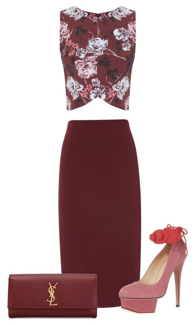 """Eimhear93 on Polyvore"" by eimhear93 on Polyvore featuring Miss Selfridge, Charlotte Olympia and Yves Saint Laurent"