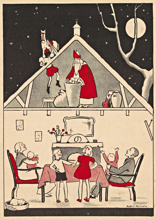 Adri Alindo Illustraties uit kinderboeken over Sinterklaas   Koninklijke Bibliotheek