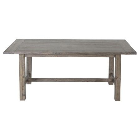 gilford 60 rustic dining table gray threshold grey target rustic dining tables and room. Black Bedroom Furniture Sets. Home Design Ideas
