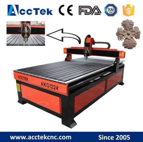 Hot sale advertising cnc wood cutting machine /cnc router 1224 for acrylic wood plastic cutter