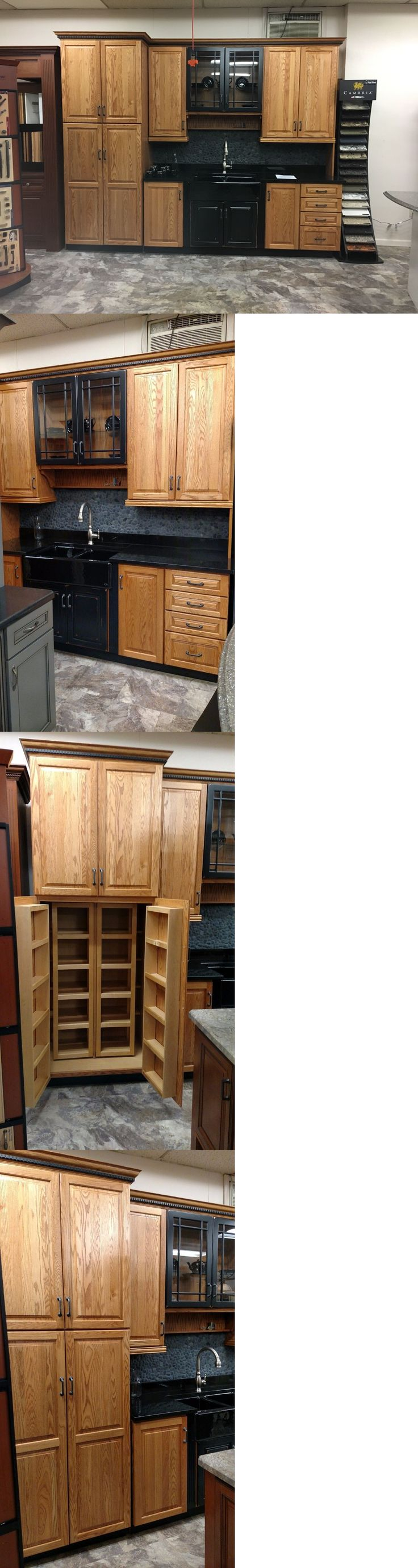 36 in h x 24 in w praline rectangular bathroom mirror at lowes com - Cabinets 85879 Kraftmaid Honey Spice Oak Kitchen With Pantry Buy It Now Only