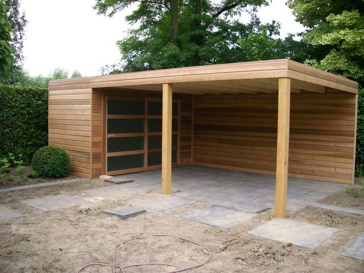 Tuinhuis met overkapping 5 - Houthandel Van Der Heijden