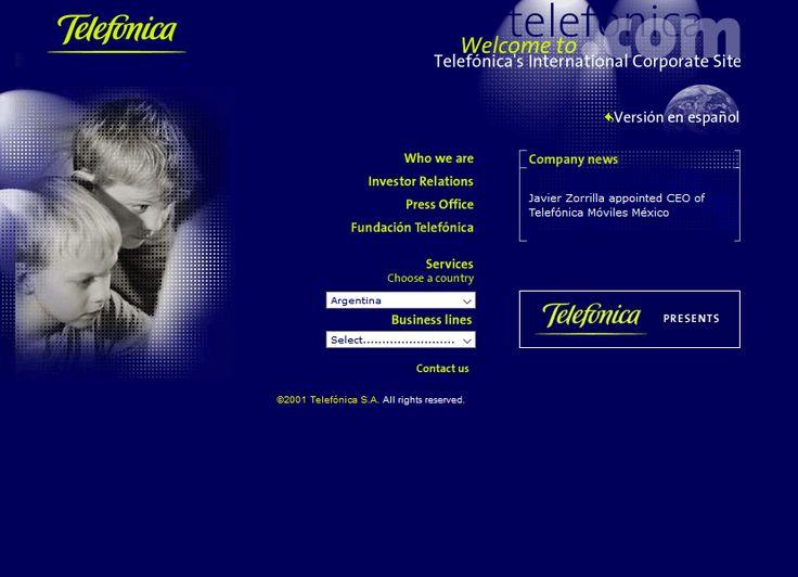 Telefonica website in 2001