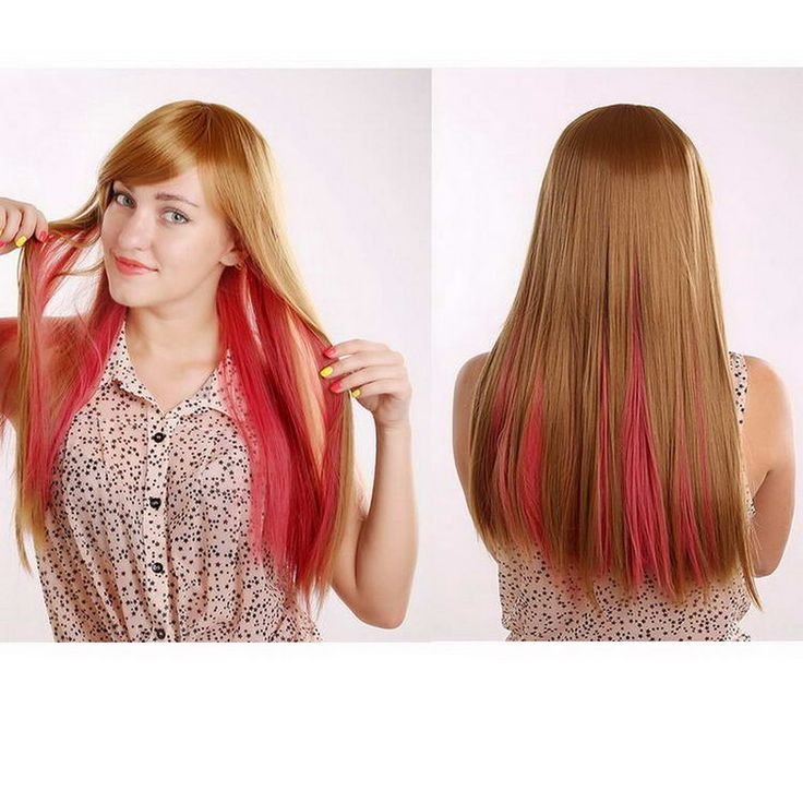 """2015 NEW High Quality 24""""/60cm Heat Resistant straight long Wig for women, red blonde ombre wig natural synthetic hair perucas"""