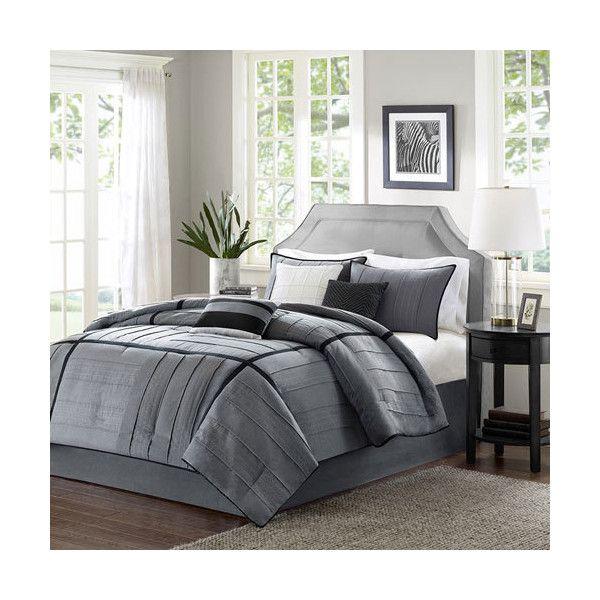 madison park bridgeport gray sevenpiece queen comforter set 130 liked on