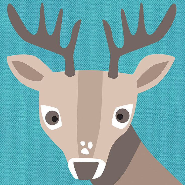 Oopsy Daisy Young Buck Stretched Canvas Wall Art