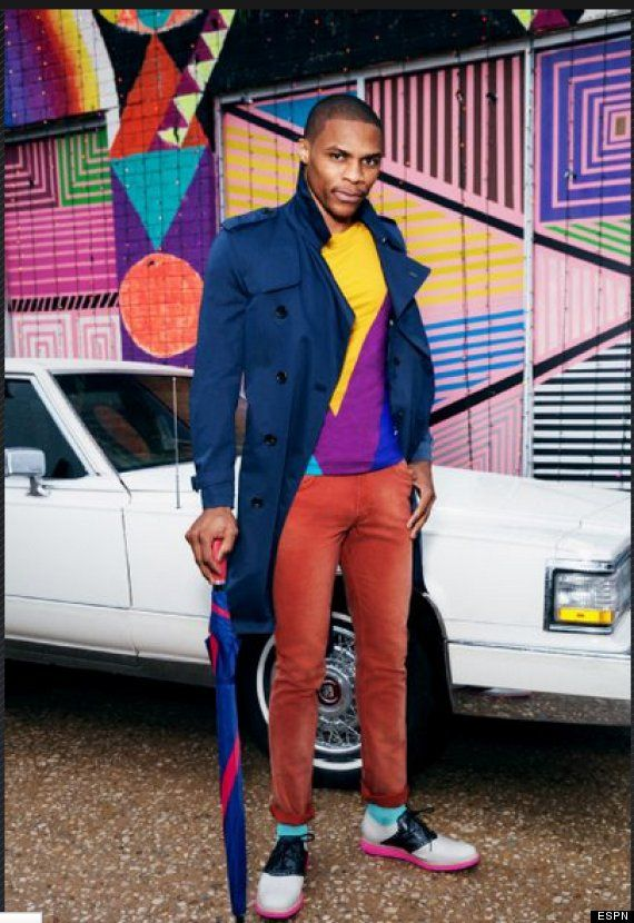 What's up with Russell Westbrook's fashion sense? Like or dislike? Out there for sure...