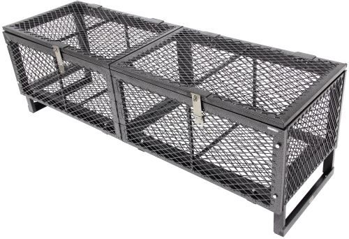 23x79 Rack'Em Heavy-Duty Cargo Basket for Open Trailers - Lockable Lid - Steel - 250 lbs Rackem Trailer Cargo Control RA-14-14L