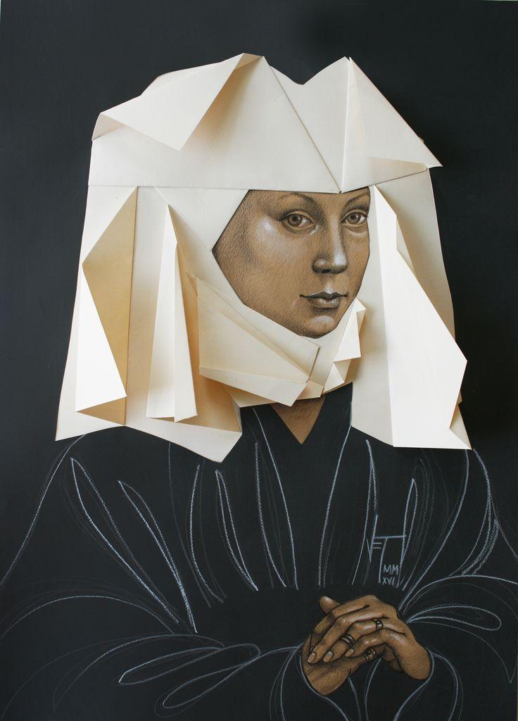 Vania Elettra Tam - Origami clitoridei- giovane donna - 2016 - 70x50 cm - tecnica mista
