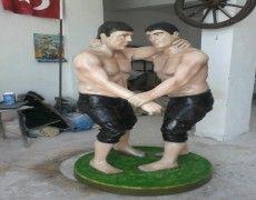 Wrestlers Statue