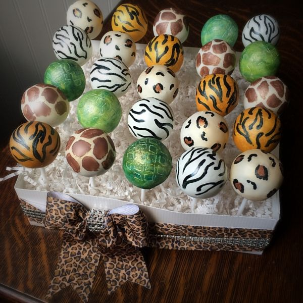 Animal Print Cake Pops Cakepops Cake Pops Safari