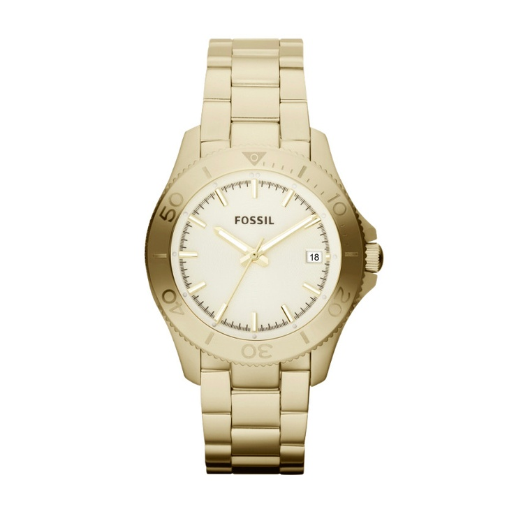 FOSSIL® Watch Styles Gold-Tone Watches:Women Retro Traveler Stainless Steel Watch – Gold-Tone AM4456