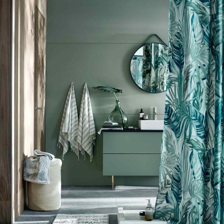 303 best Déco SDB images on Pinterest Bathroom, Half bathrooms and - meuble salle de bain panier a linge