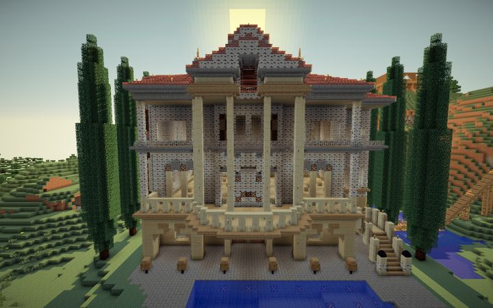 Wooden Minecraft Mansion