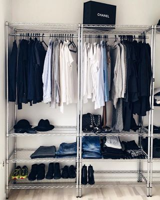 Industrial yet chic. | 17 Minimalist Wardrobes That Will Make You Want To Throw Half Your Clothes Out