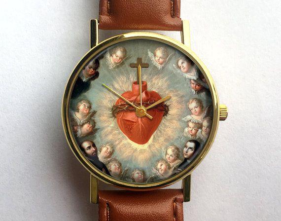 Heilig hart van Jezus-horloge religieuze door 10northcreative