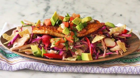 fourfancy: Taco insalata di pesce from The Lady!