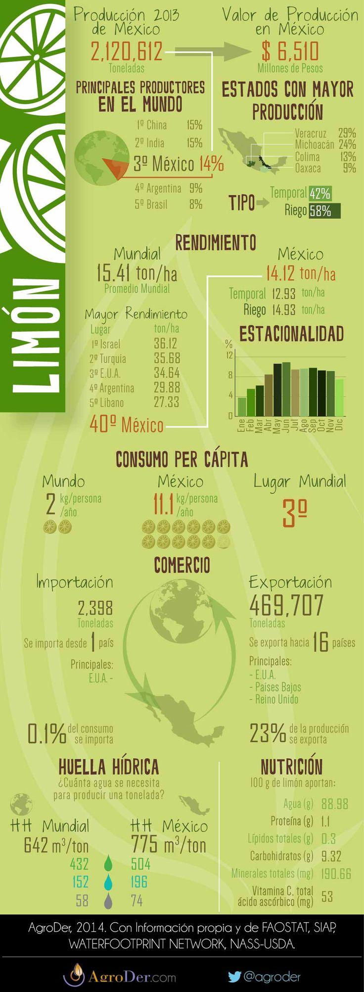 Infografía - Limón en México, 2013.