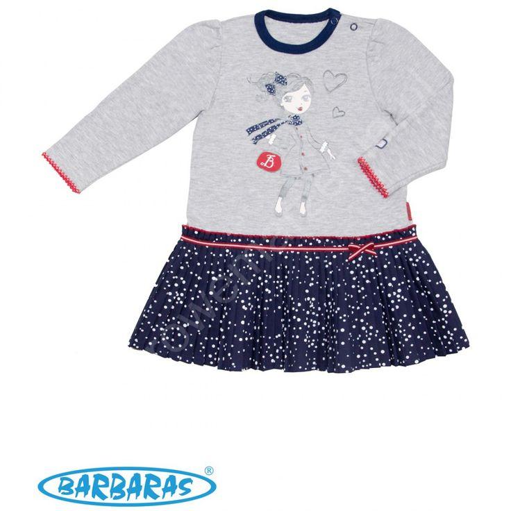 Sukienka dziewczęca Śnieżne Kokardki Barbaras 80 - ☘ Ubranka dla dzieci i odzież dla niemowląt - sklep dziecięcy kolorowemarzenia.pl