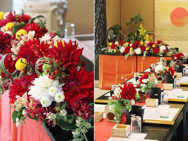 会場装花について スタイル別 会場装花 会場装花 実績写真 Japanesque2 ジャパネスク2〜赤&amp…