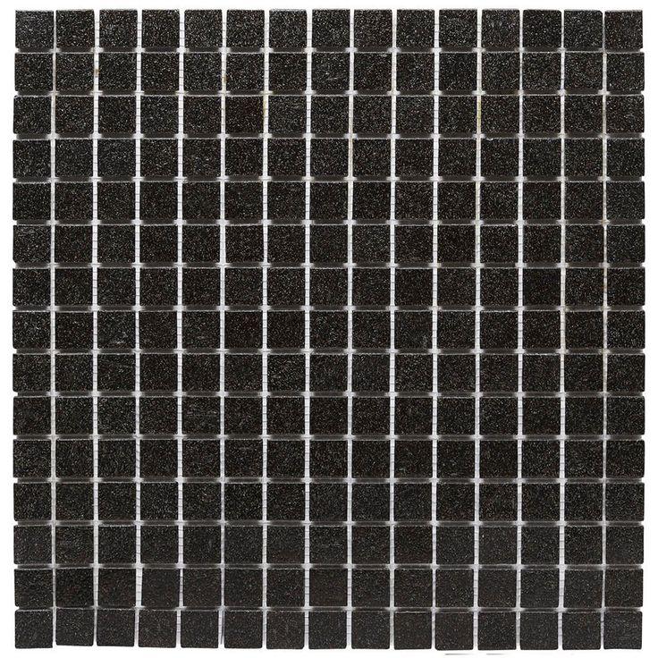 Malla Decorativa Notte con mezcla de cristal en color negro. Medida (cm) 32.7 x 32.7 Grosor (cm) 0.4