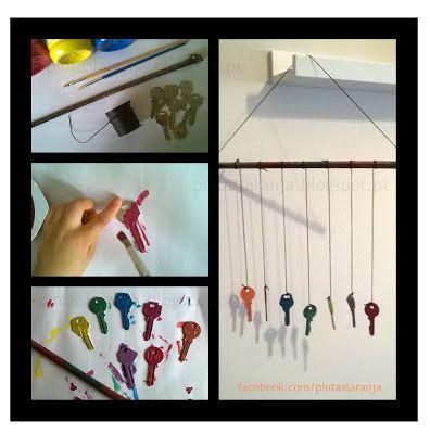 Pintas Laranja: O que fazer com as chaves velhas que temos em casa...