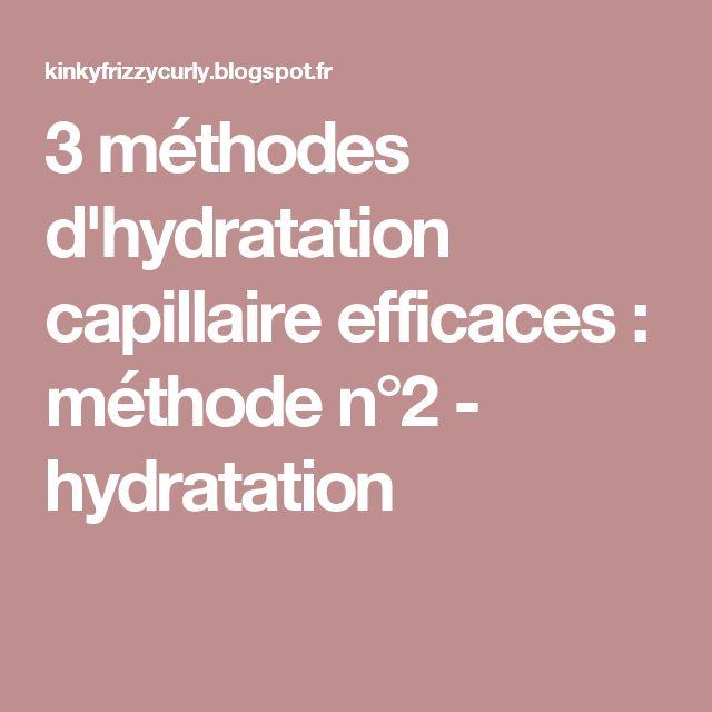 3 méthodes d'hydratation capillaire efficaces : méthode n°2 - hydratation