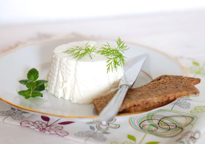Domácí čerstvý krémový sýr čili labneh