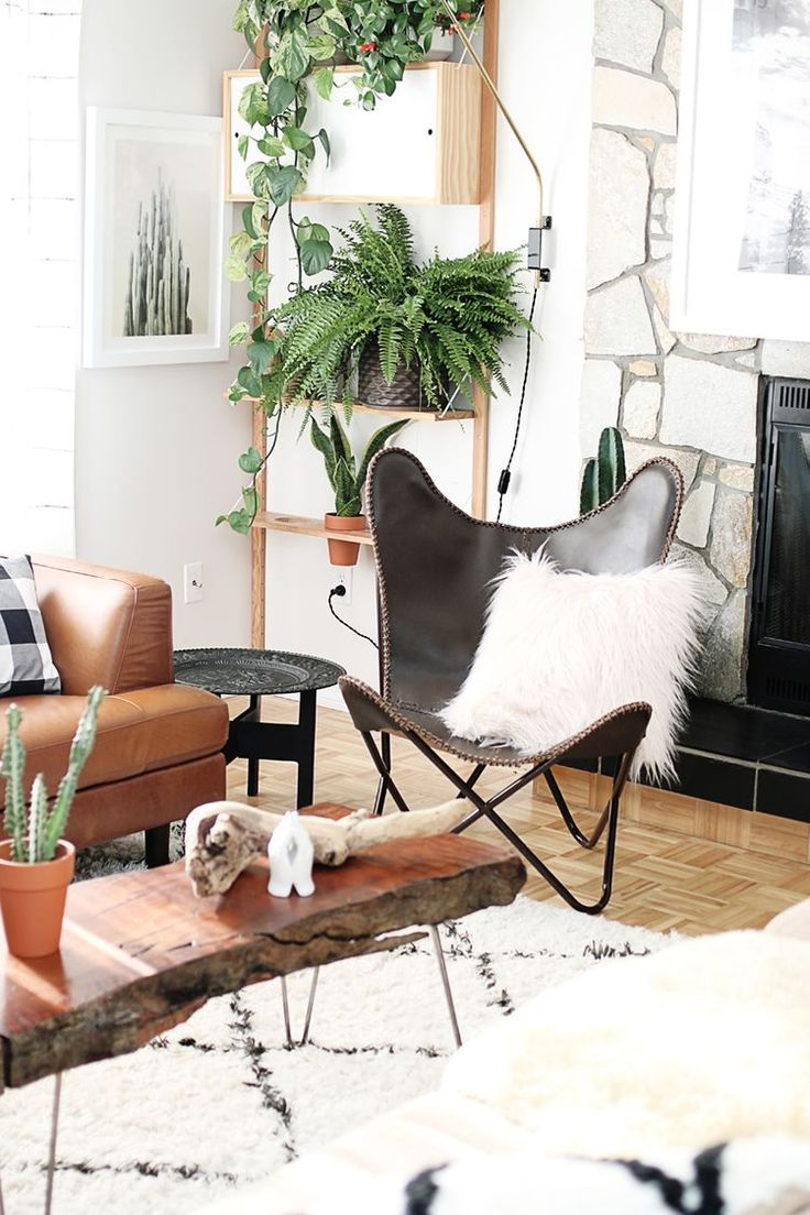 Bohemian modern living room hello lidy posts plants for Modern living room plants