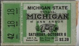 1934 at Ann Arbor: Michigan State 16, Michigan 0