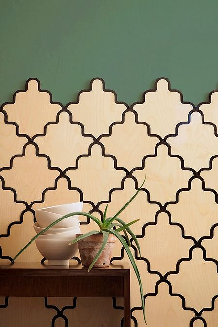Otthon - Lambéria helyett modern fa falburkolat | Burkolat