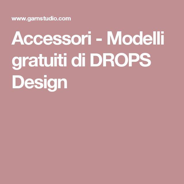 Accessori - Modelli gratuiti di DROPS Design