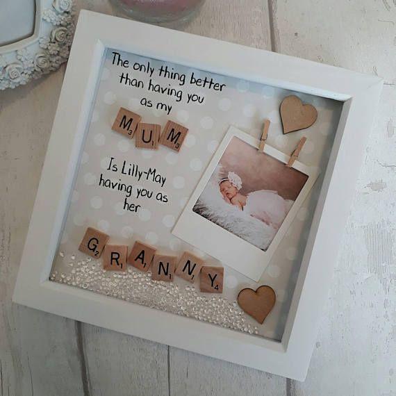 Mothers Day Gift Grandma Frame Nana Scrabble Art Frame Gift For