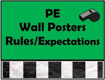These PE posters look great on the gym wall. I like these posters because they are to the point with the most important rules! Check out my store. I have a lot of great materials coming your way!Katie ThomasStore: Coach T PE