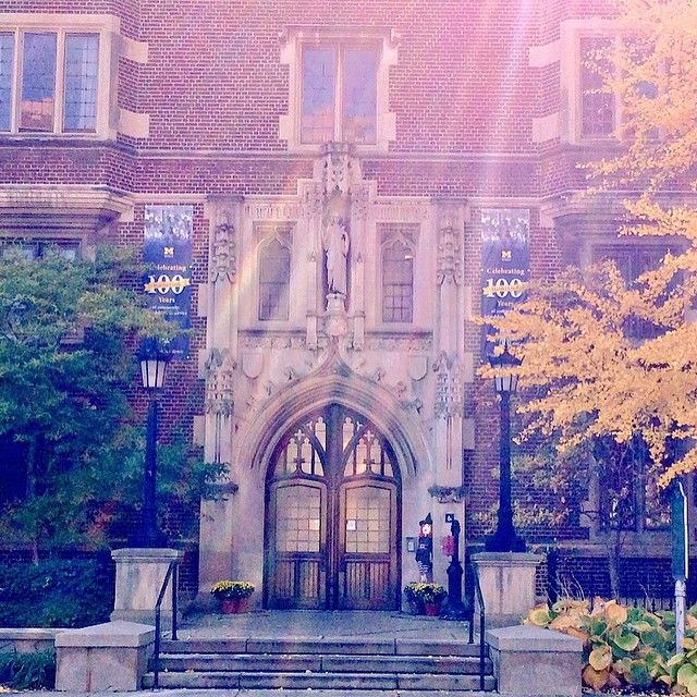 The Martha Cook Building recently celebrated 100 years on campus! She's looking mighty fine even after a century!