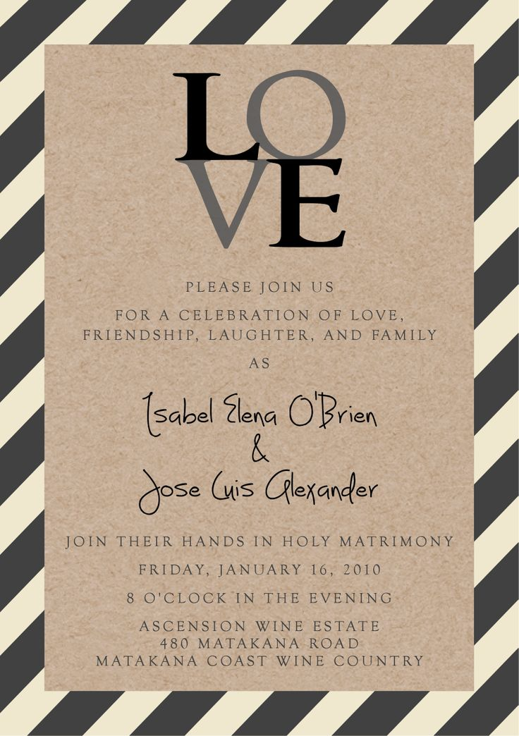 Isabel & Jose's Invite - www.chicdesign.co.nz