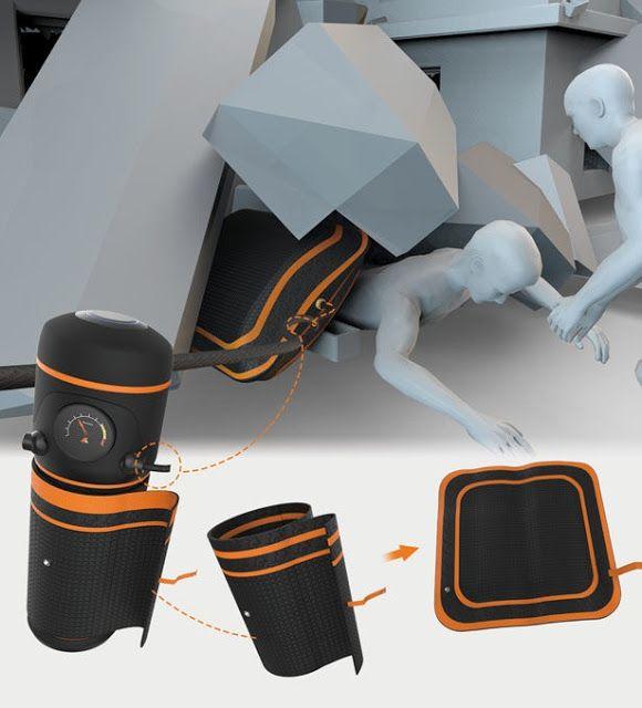 Este Airbag de mano funciona de manera efectiva después de los terremotos