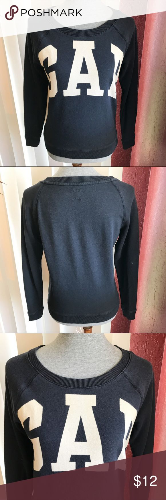GAP Sweater Used. Good condition. Has two stains on the sleeve. Please see pictures above. Navy blue. GAP Sweaters