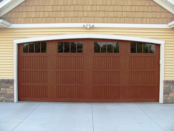 Impression Collection Model 983 Cherry Stain Vertical Slat Panel Design with 8 Vertical Windows · Fiberglass Garage DoorsWood ... & 7 best Impression Collection images on Pinterest | Fiberglass ...