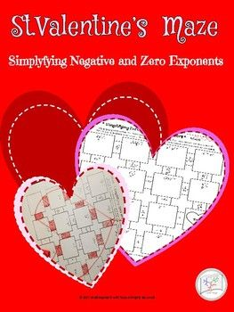 """HS Math ValentineMaze with 13 practice exercises with zero and negative powers.Allows work space within the puzzle. The Key is included.Happy Valentines!------------------- Error Analysis---------------------------------- Error Analysis activity: Linear Inequality """"Hidden Rule Identity""""- Error Analysis activity: Linear Equation: PRACTICE isolating the y- Error Analysis activity: Simplifying Square Root Expressions Products vs Sums- Error Analysis activity: Simplifying Radical Expressions…"""