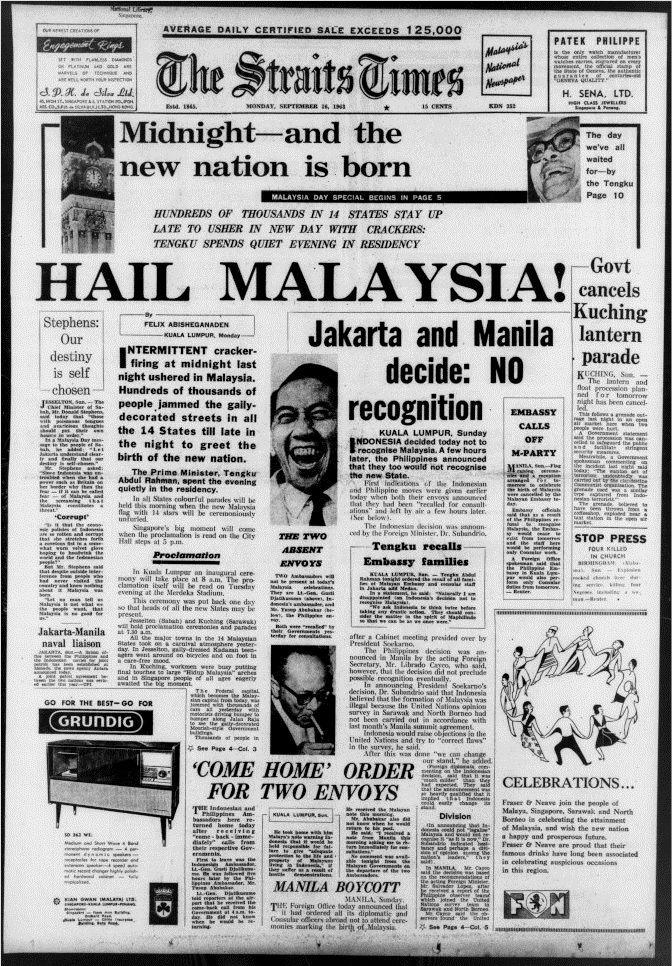 Malaysia Federation 1963