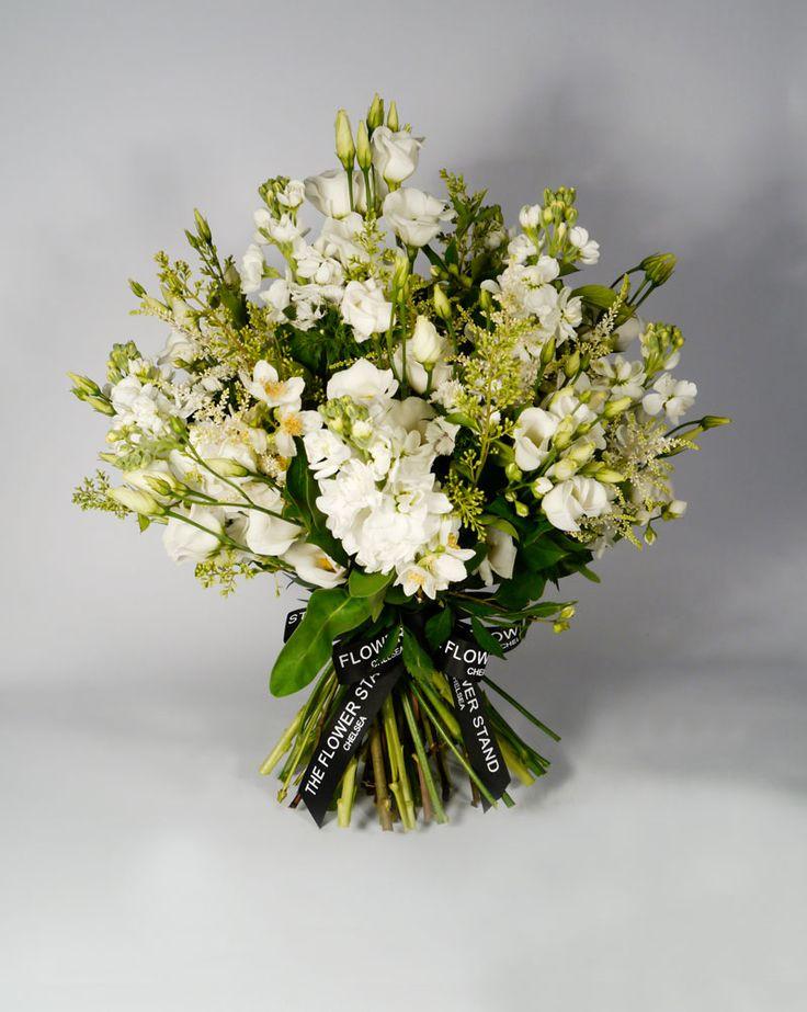 White Country Bouquet - White Lisy, White Stocks and White Astilbe