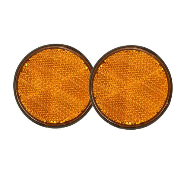 2pcs reflectores circulares 2inch naranja universales para motocicletas atv motos motos de cross